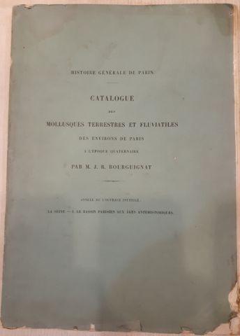 PUYDT. Les orchidées. 1880. Mauvais état de reliure. BOURGUIGNAT. Catalogue des...
