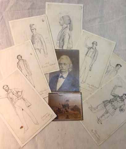 Jakob FREY (1813-1865) Peintre suisse, il...