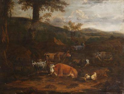Ecole HOLLANDAISE vers 1700, suiveur de Nicolaes...