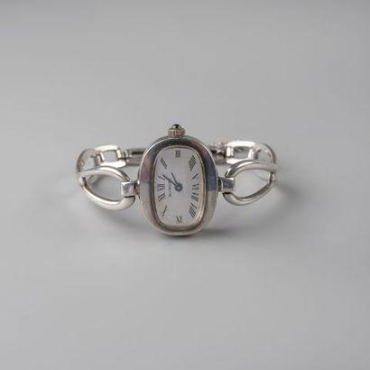 Bracelet montre de dame en argent 925 °/°°....