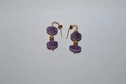 Paire de pendants d'oreilles en or 750 °/°°...