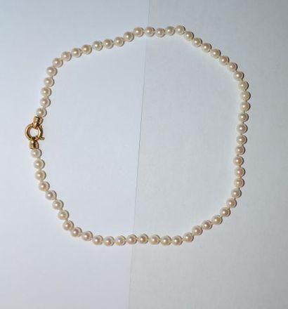 Collier choker de perles de culture orné...