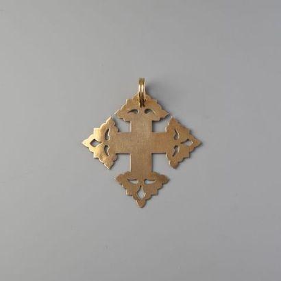 Pendentif Croix de Megève en or 750 °/°°....
