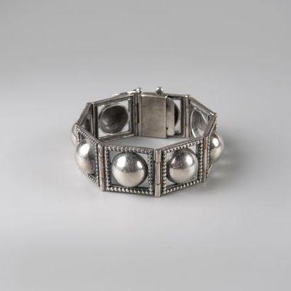 Bracelet ruban articulé en argent 925 °/°°...
