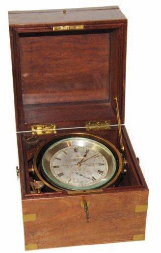 Chronomètre de marine. Cadran divisé sur...