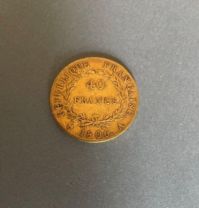 NAPOLÉON Ier 1804-1814  Monnaie de 40 Francs...