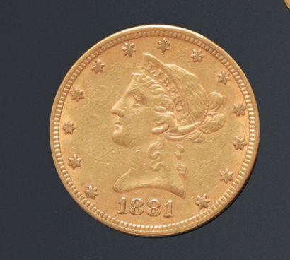 ETATS-UNIS  Pièce de 10 Dollars en or, Liberty...