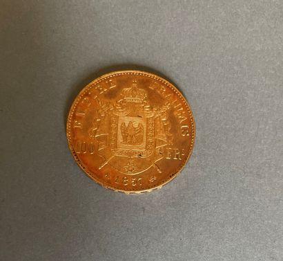 SECOND EMPIRE  Monnaie de 100 francs en or,...