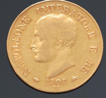 ROYAUME D'ITALIE  Monnaie de 40 Lire en or,...