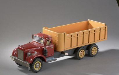 JAPAN Grand Camion Benne Rouge Orange 1950...