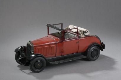 CITROEN Cabriolet Rouge C6 1932 - échelle...
