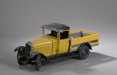 CITROEN Camion plateau C4 Jaune 1930 - échelle...