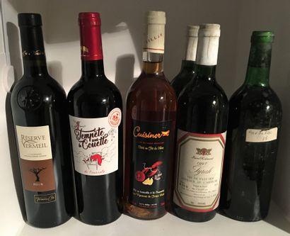 6 bouteilles dont 2 VDP des Coteaux de l'Ardèche...