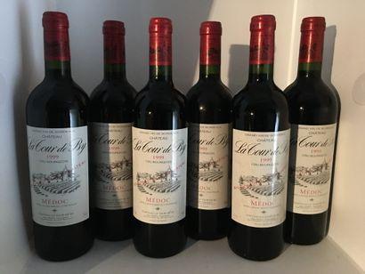 6 bottles of Château LA TOUR DE BY Médoc 1999
