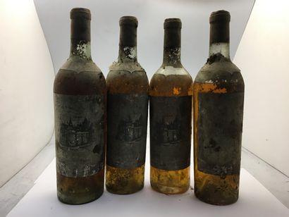 4 bouteilles de Château OLIVIER 1er Cru classé...