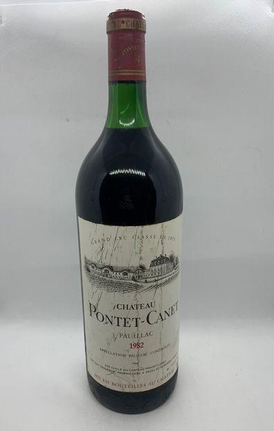 1 magnum of Château PONTET-CANET, Grand Cru Classé, Pauillac 1982, neck base, label...