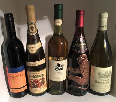 5 bouteilles d'ALLEMAGNE dont 1 Riesling...