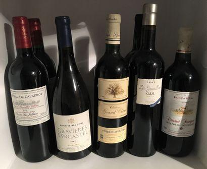 12 bouteilles dont 1 COTEAUX d'AIX du Domaine...