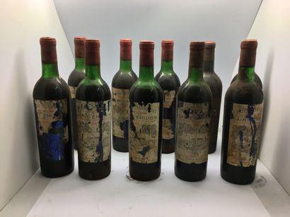 10 bouteilles de Château SANSONNET Grand...