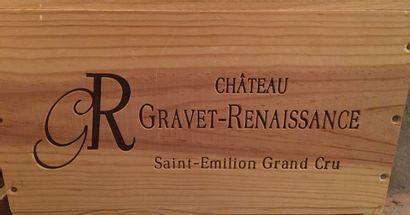6 bouteilles de Château GRAVET-RENAISSANCE Saint-Emilion Grand Cru 2010 dans CB...