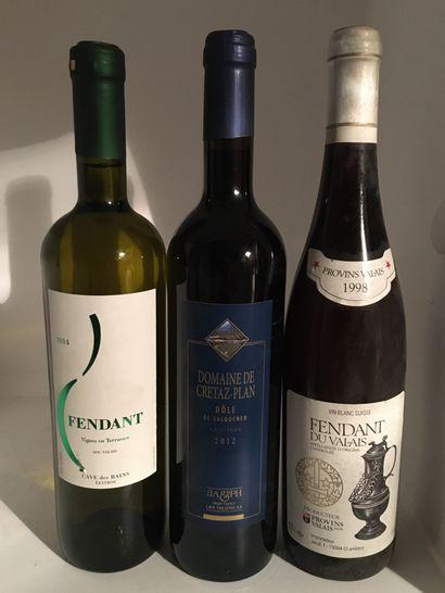 3 bouteilles de SUISSE dont 1 Fendant du...