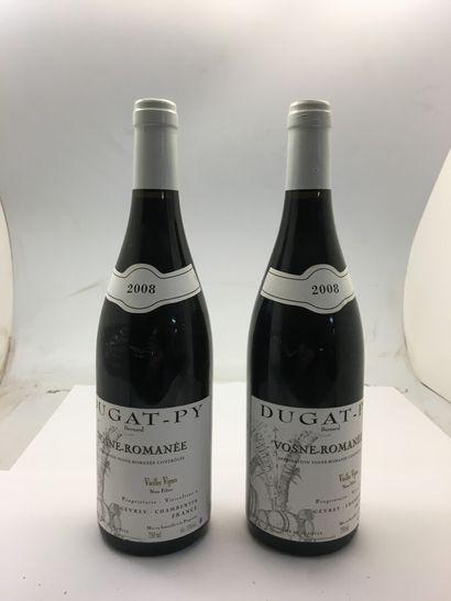 2 bottles of VOSNE-ROMANEE Vieilles Vignes...
