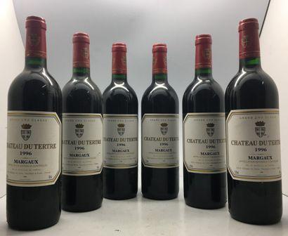 6 Bouteilles de Château du Tertre Margaux...