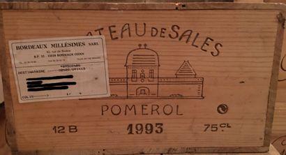 12 bouteilles de Château de SALES Pomerol...