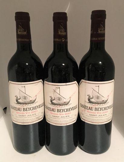 3 bouteilles de Château BEYCHEVELLE Saint-Julien...