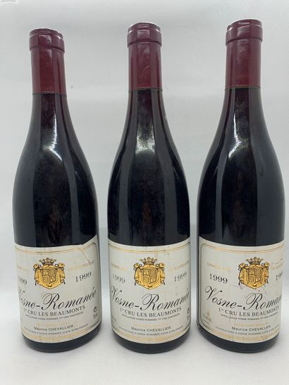 3 bottles of VOSNE-ROMANEE 1er CRU Les Beaumonts...