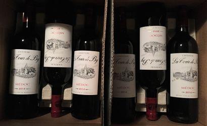 12 bouteilles de Château LA TOUR DE BY Médoc 2014