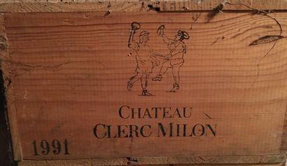 12 bouteilles de Château CLERC MILON Grand...