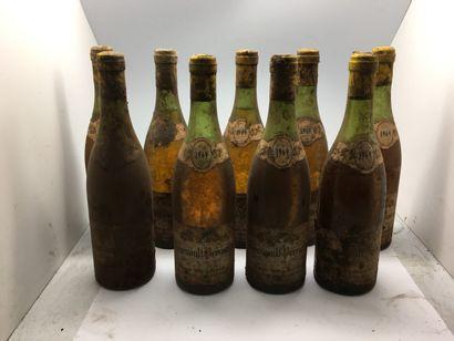 9 bottles of MEURSAULT-PERRIERES 1969 from...