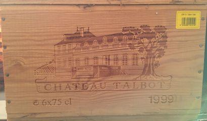 6 bouteilles de Château TALBOT Grand Cru...
