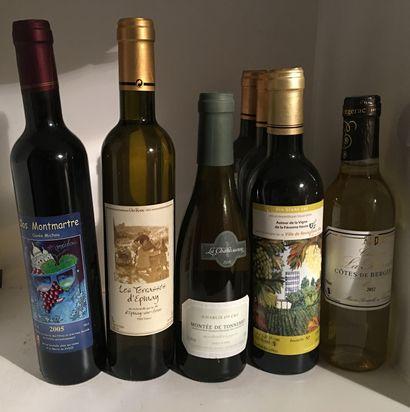 7 demi-bouteilles divers dont la Cuvée Michou...
