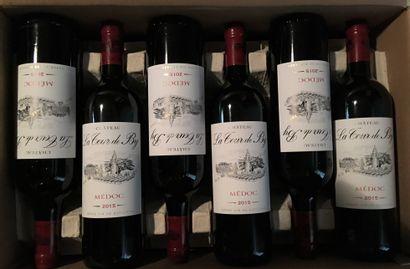 12 bottles of Château LA TOUR DE BY Médoc 2015