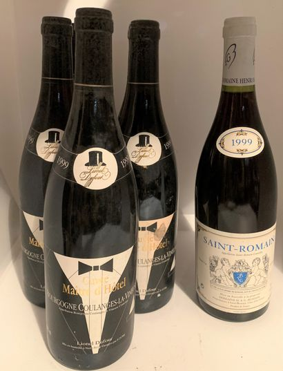 6 bouteilles dont 1 SAINT-ROMAIN 1999 du...