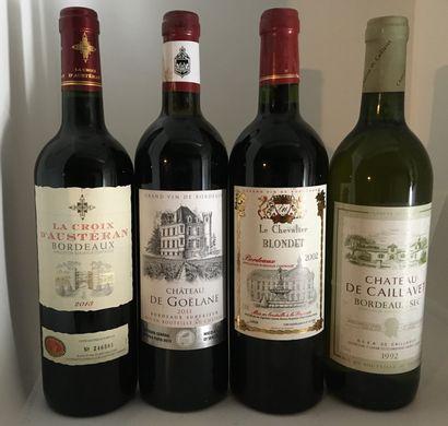 10 bouteilles et 2 demi-bouteilles de divers BORDEAUX , BORDEAUX SUPERIEUR et BORDEAUX...