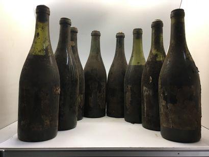 8 bouteilles de Châteauneuf-du-Pape (4 basse...