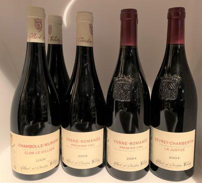 6 bottles of Gilbert & Christine Felettig...