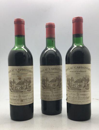 3 Bouteilles Château Carbonnieux Leognan...