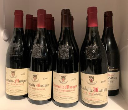 12 bottles including 8 CHAMBOLLE-MUSIGNY...