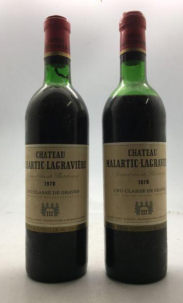 2 Bouteilles Château MALARTIC-LAGRAVIERE...