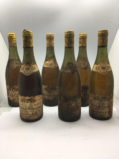 6 bottles of MEURSAULT, including 2 CHARMES...