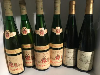 6 bottles from ALSACE including 4 Tokay-Pinot-Gris Réserve Personnelle 1994 from...