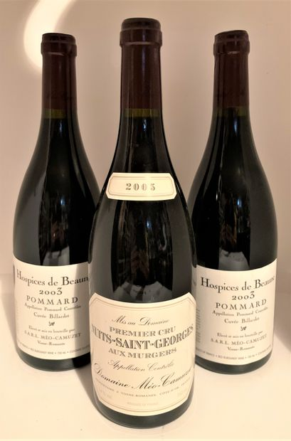 3 bottles including 1 from Domaine Méo-Camuzet...