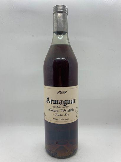1 bouteille d'ARMAGNAC 1939 du Domaine Veuve...