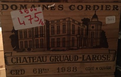 6 bouteilles de Château GRUAUD-LAROSE Grand...