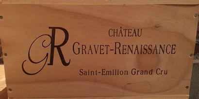 6 bouteilles de Château GRAVET-RENAISSANCE...