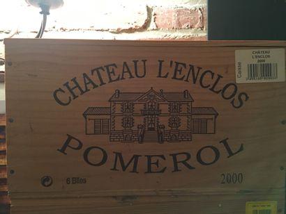 6 bouteilles de Château L'ENCLOS Pomerol...
